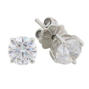 Beautiful Diamond simulant 1.5 carat earrings by Desert Diamonds