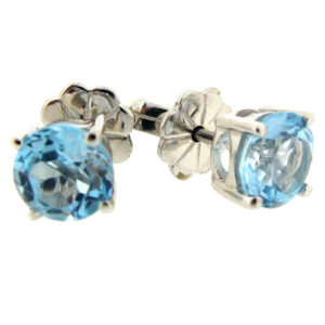 Beautiful blue topaz earrings by Desert Diamonds