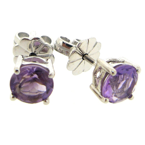 Beautiful light amethyst 1.5 carat earrings by Desert Diamonds