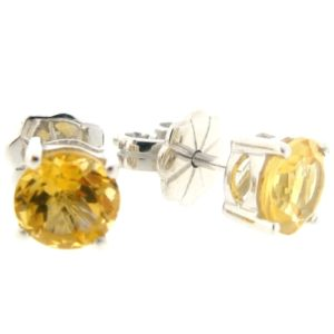 Beautiful citrine 1.5 carat earrings by Desert Diamonds