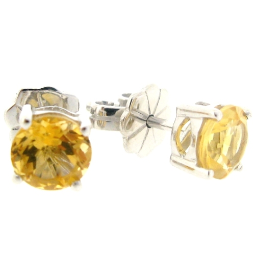Beautiful citrine 1.5 carat earrings by Desert Diamonds