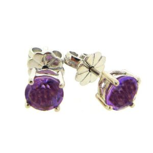 Beautiful dark amethyst 1.5 carat earrings by Desert Diamonds