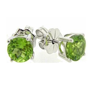 Beautiful peridot 1.5 carat earrings by Desert Diamonds