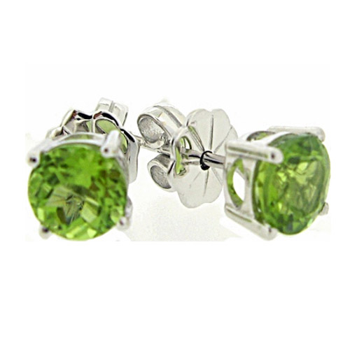 Beautiful peridot 1.5 carat earrings by Desert Diamonds