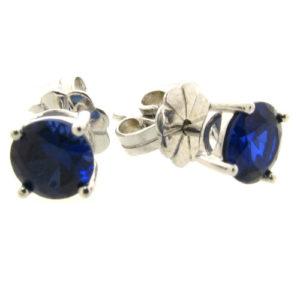 Beautiful blue sapphire 1.5 carat earrings by Desert Diamonds
