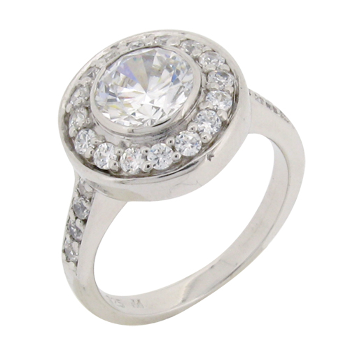 stunning dress antique ring with halo design