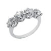 High quality cubic zirconia sterling silver 925 white gold plating life time guarantee