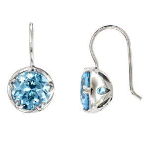 Blue topaz earrings from the Aqua clara collection of Desert Diamonds