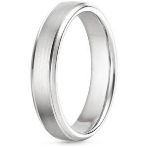 7 millimeter men's wedding band in silver