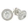 Halo earrings from Desert Diamonds jewellery, from a customer testimonial