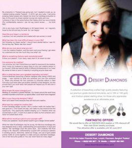 Desert Diamonds features in the international magazine Insider Asia