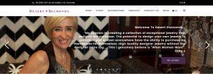 screenshot of the brand new Desert Diamonds website jewellery webstore