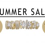 Summer sale banner advertising 25 percent off all new gold desert diamond jewellery until 31st August 2017