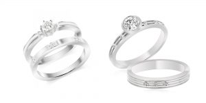 gorgeous range of diamond simulant wedding band and engagement ring sets from desert diamonds jewellery new bridal collection