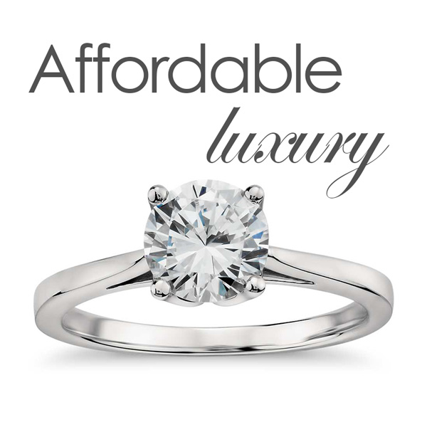 solitaire brilliant cut diamond solid gold ring